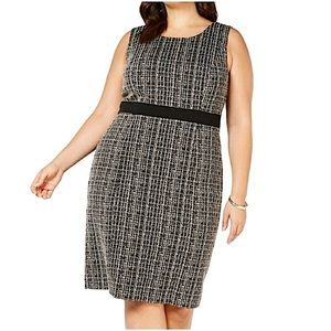 Nipon Boutique Tweed Sheath Dress